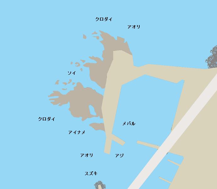 小岩川漁港ポイント図