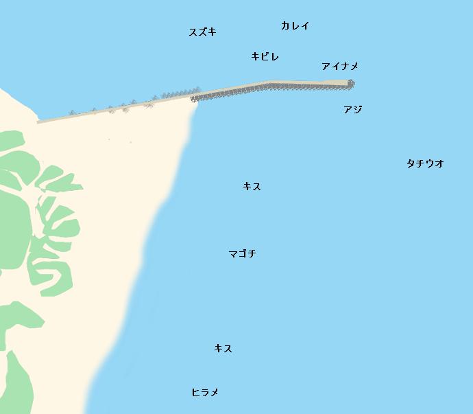 小松海岸ポイント図