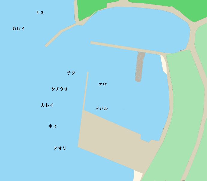 薦港ポイント図