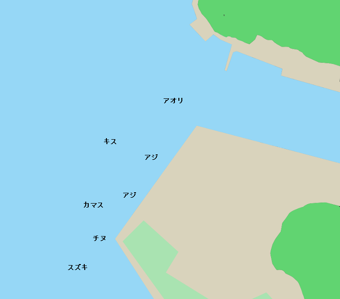 小筑紫港ポイント図