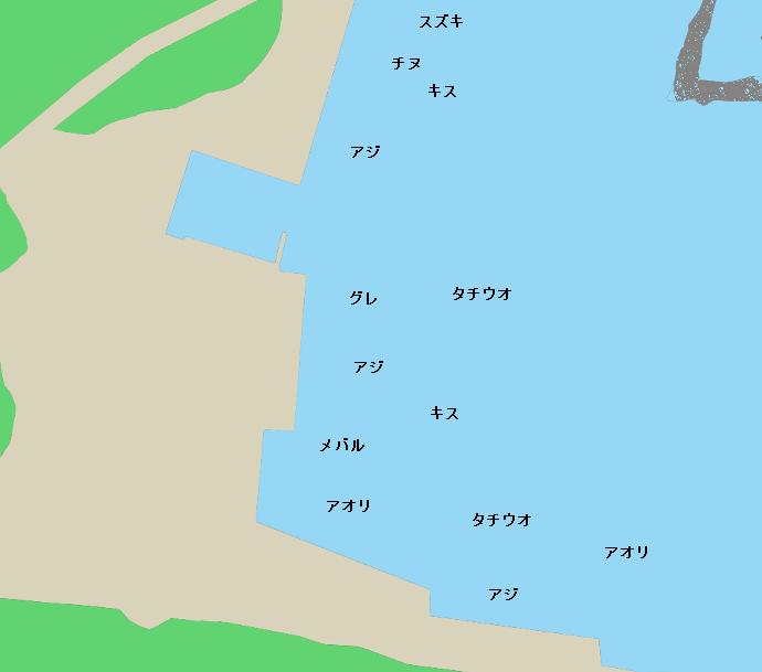 甲浦港ポイント図