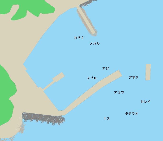 田島小用地の波止ポイント図