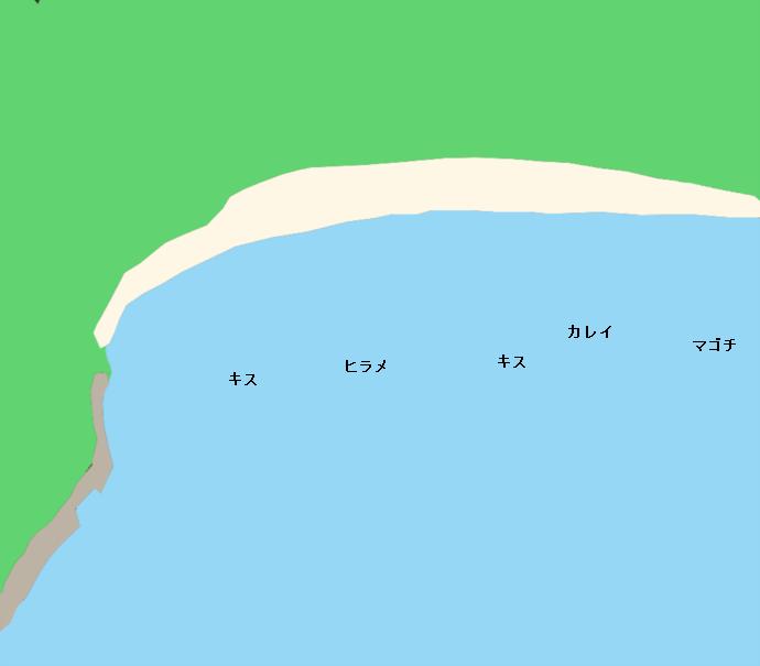 走島唐船天女浜ポイント図