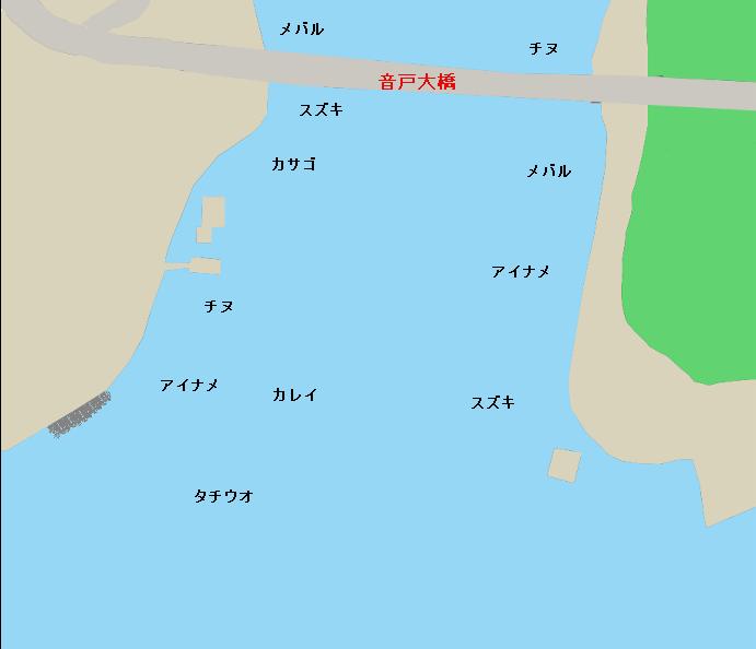 倉橋島音戸大橋付近のポイント