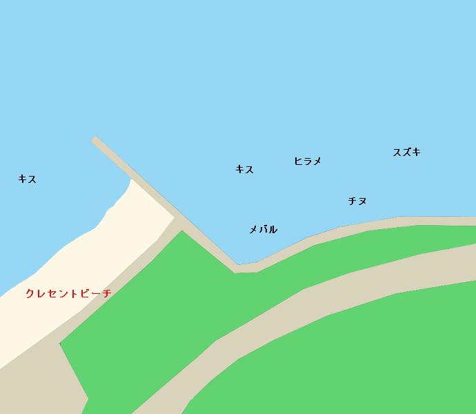クレセントビーチ付近のポイント