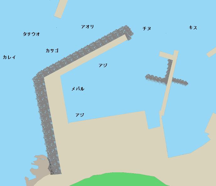 櫛生漁港ポイント図