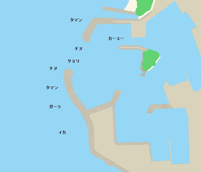 前兼久漁港ポイント図