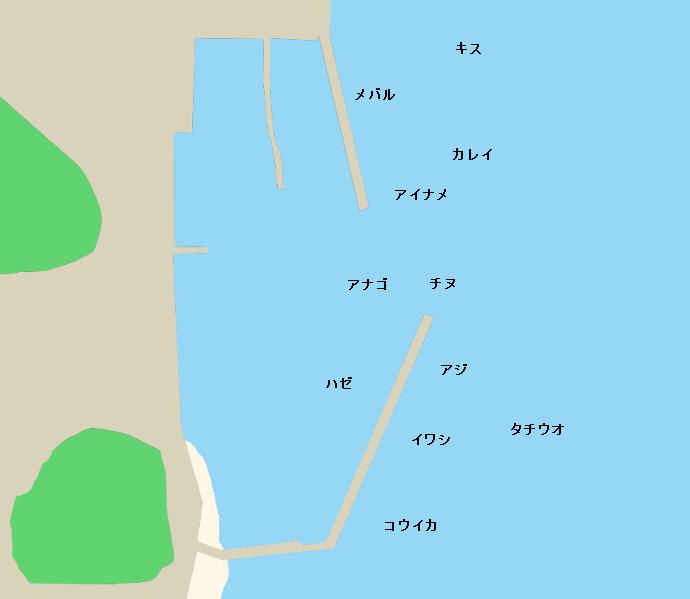 向島干汐漁港ポイント図