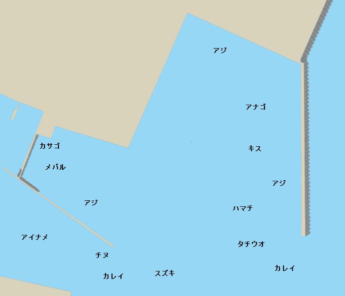 マリンピア沖洲ポイント図