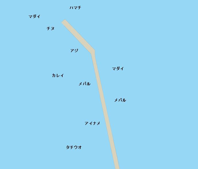 三津一文字ポイント図