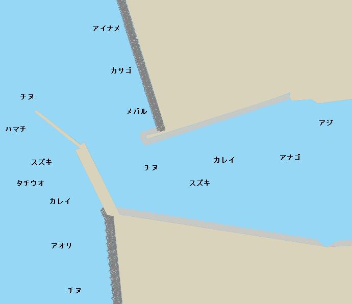 松前港(愛媛)ポイント図