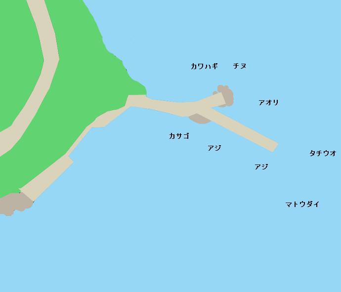 三崎漁港(愛媛)ポイント図