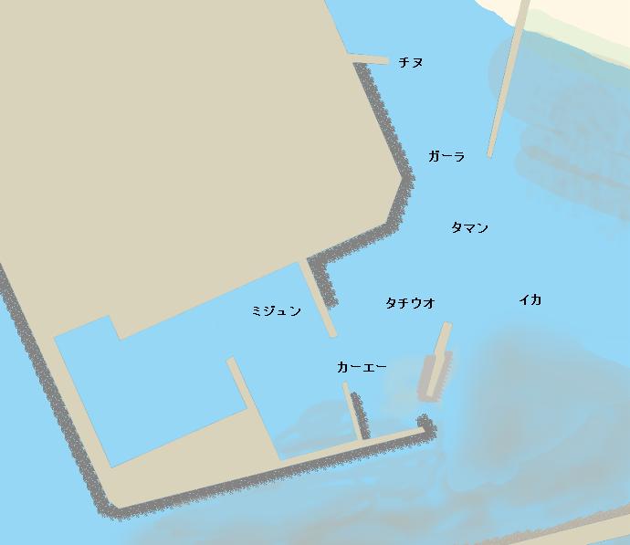 港川漁港ポイント図