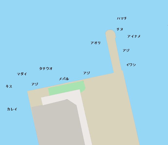 三津浜港ポイント図