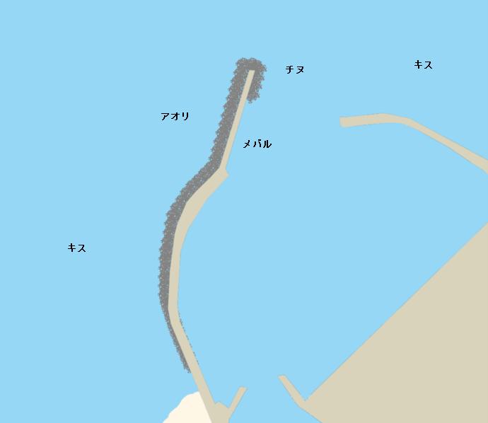 箕浦漁港ポイント図