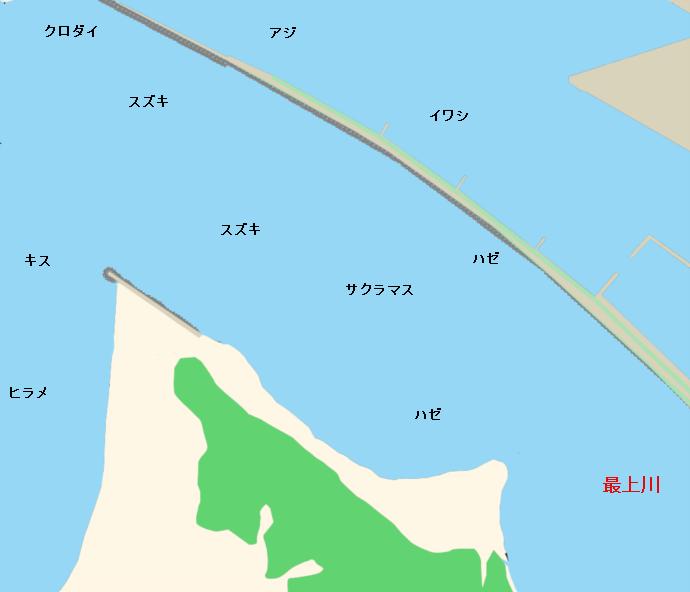 最上川河口ポイント図