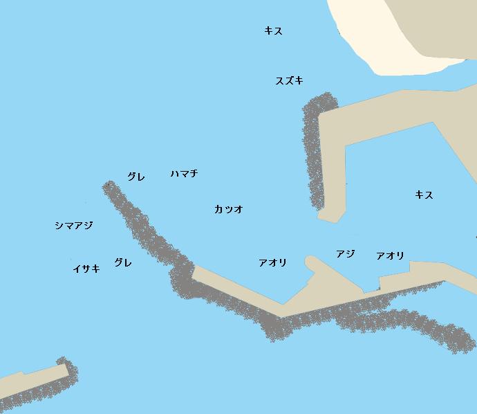 室津港ポイント図