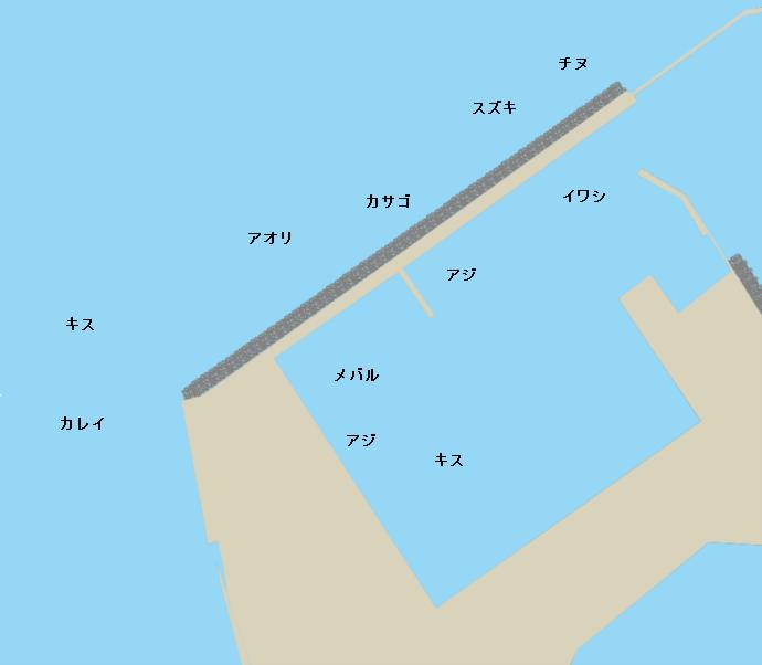 長浜港新波止付近ポイント図