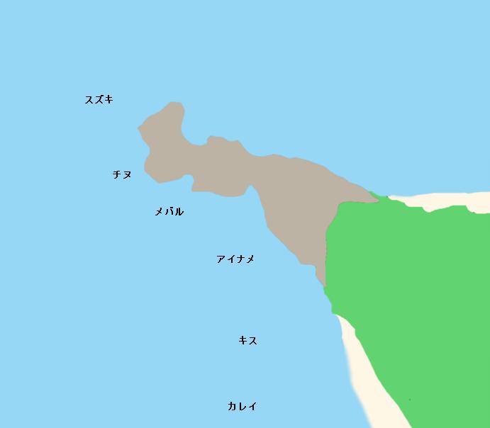 長崎ノ鼻ポイント図