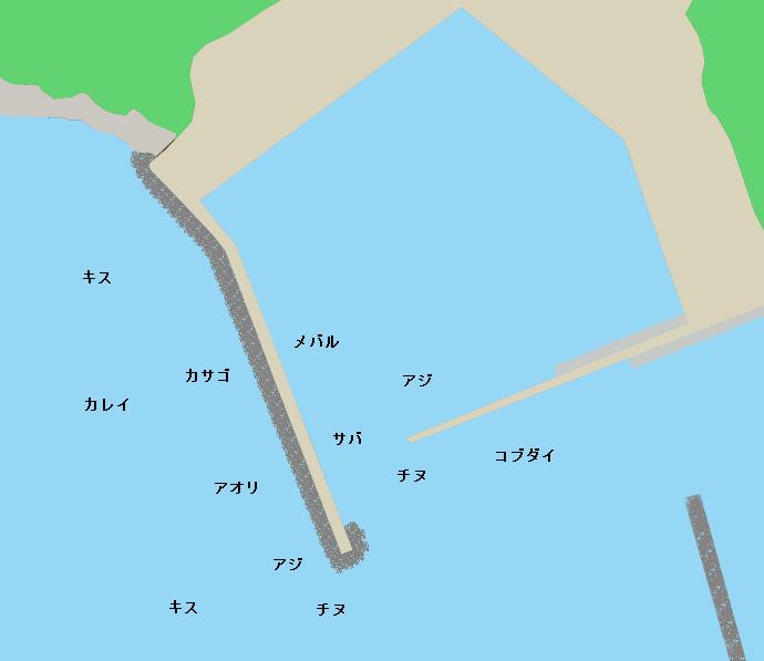 生里漁港ポイント図