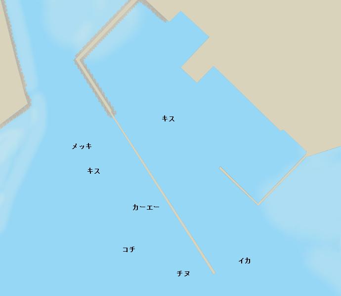 南原漁港ポイント図