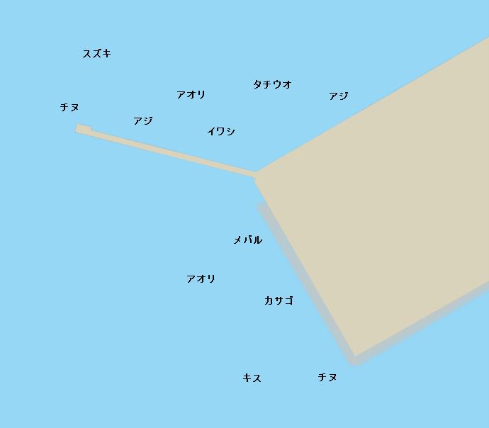 仁尾港ポイント図