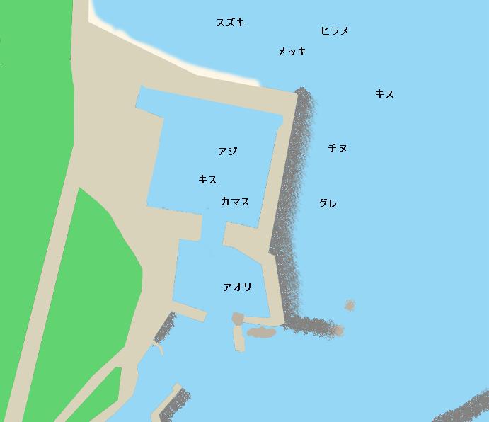 野根漁港ポイント図