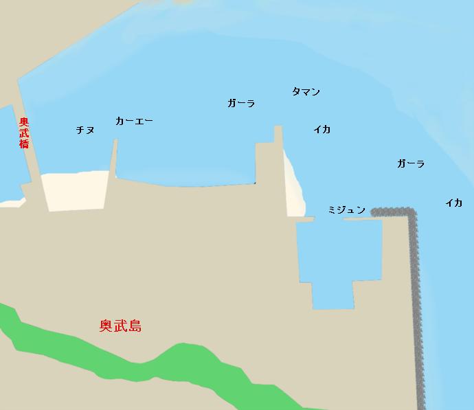 奥武島奥武橋付近のポイント