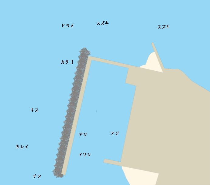 沖浦漁港ポイント図
