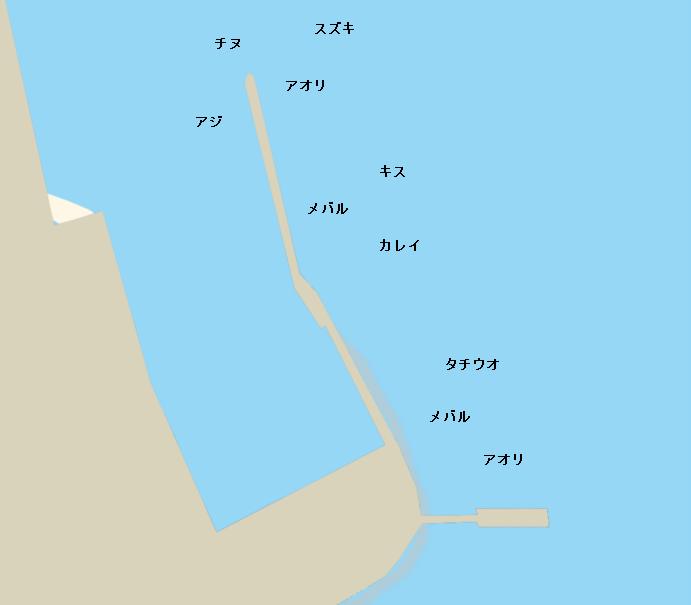 因島大浜港ポイント図
