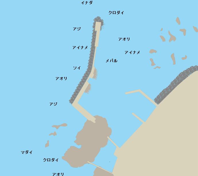 大岩川漁港ポイント図