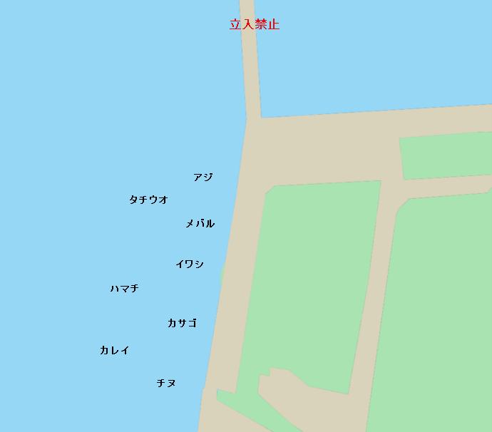 大可賀釣り公園ポイント図