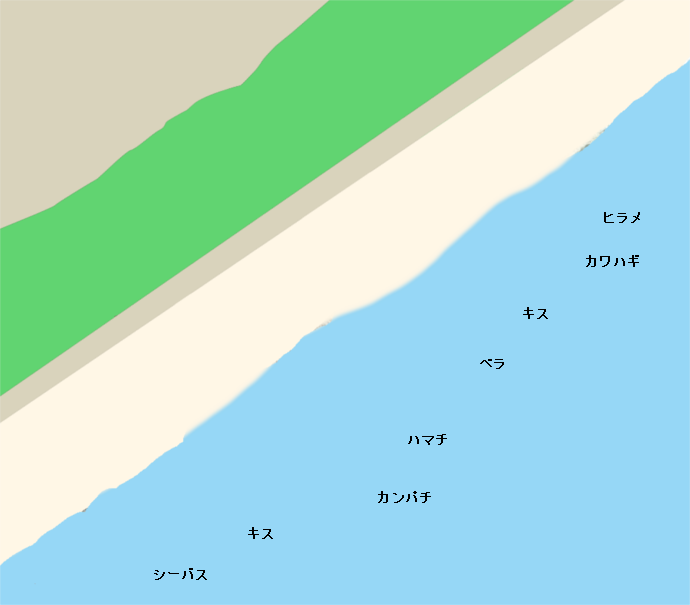 大里海岸ポイント図