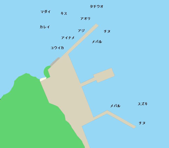 江田島大須港ポイント図