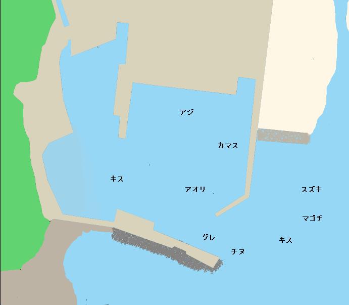竜串漁港ポイント図i