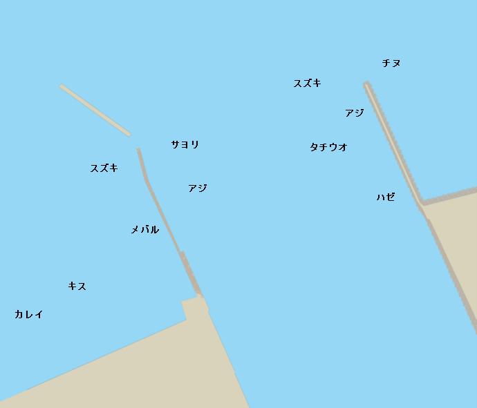 西条港ポイント図