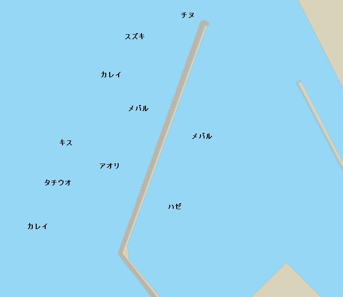 讃岐塩業の波止ポイント図