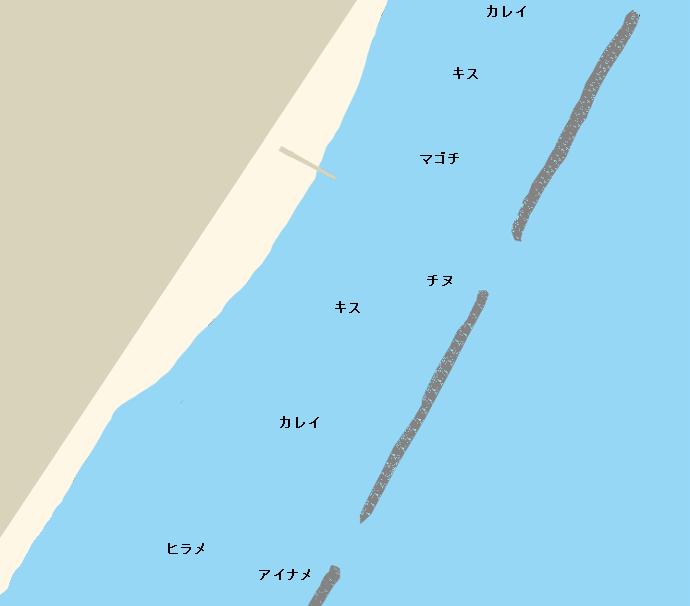 里浦海岸ポイント図