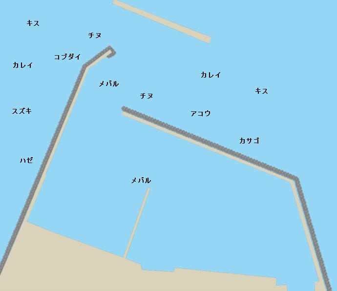 沢津漁港ポイント図
