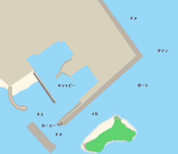 志喜屋漁港ポイント図
