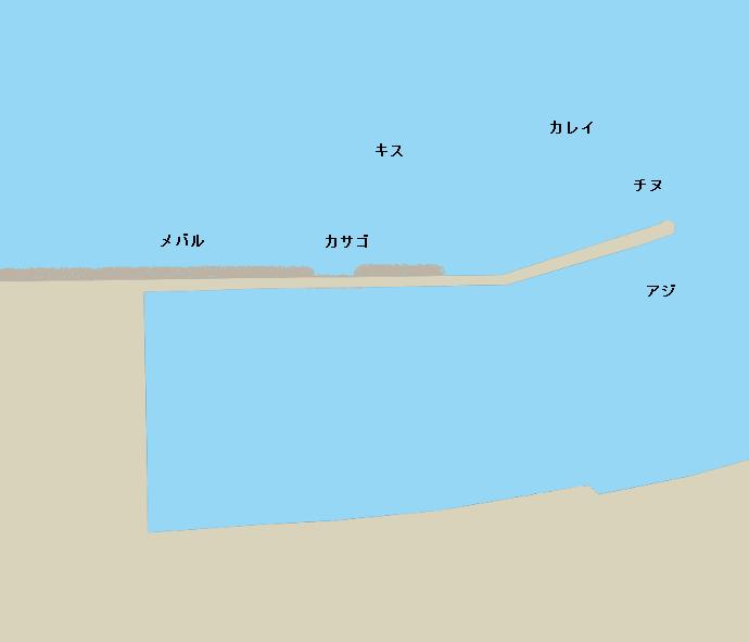 志度港ポイント図