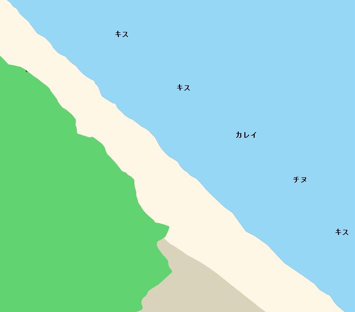 潮越海岸ポイント図