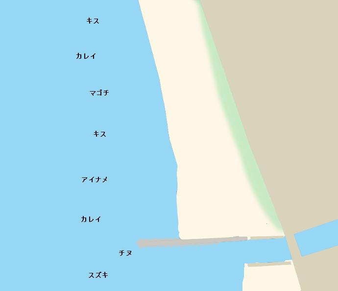 塩屋海岸(愛媛)ポイント図