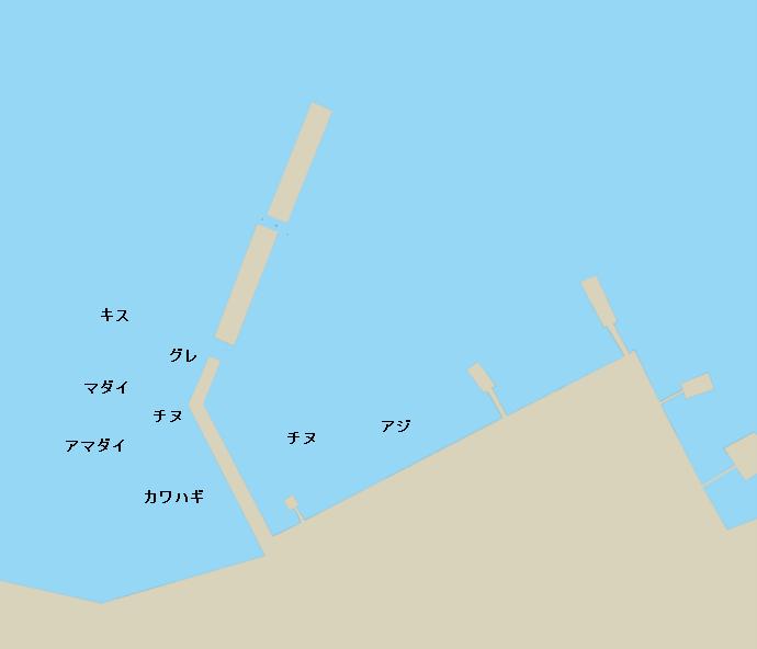 下波漁港ポイント図