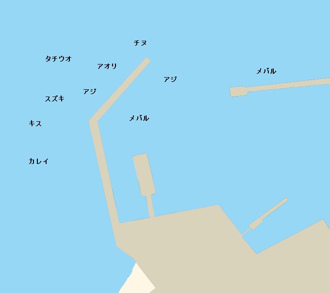 須田港ポイント図