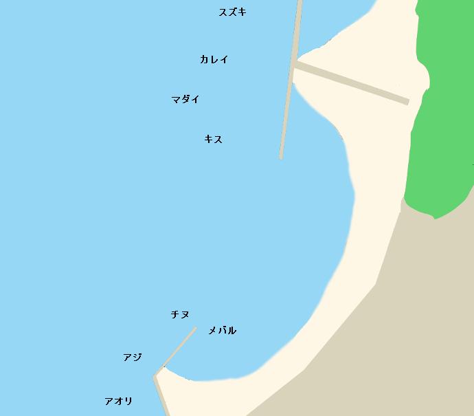 生口島サンセットビーチポイント図