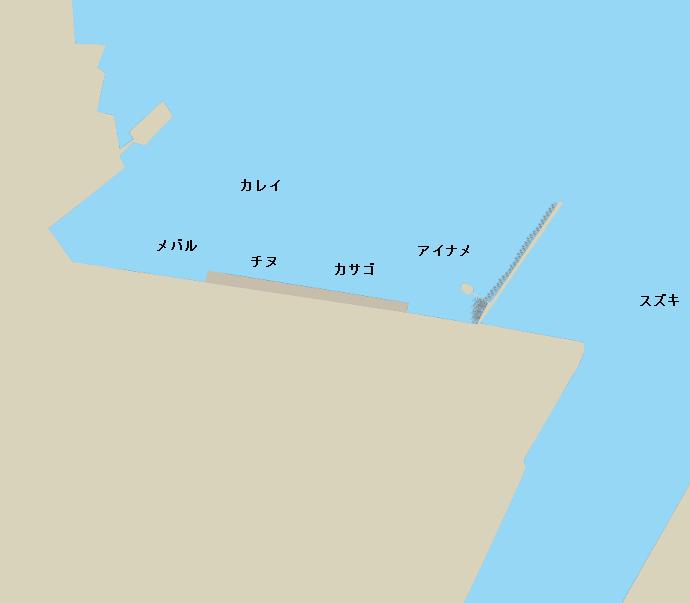 高松港フェリー乗り場付近