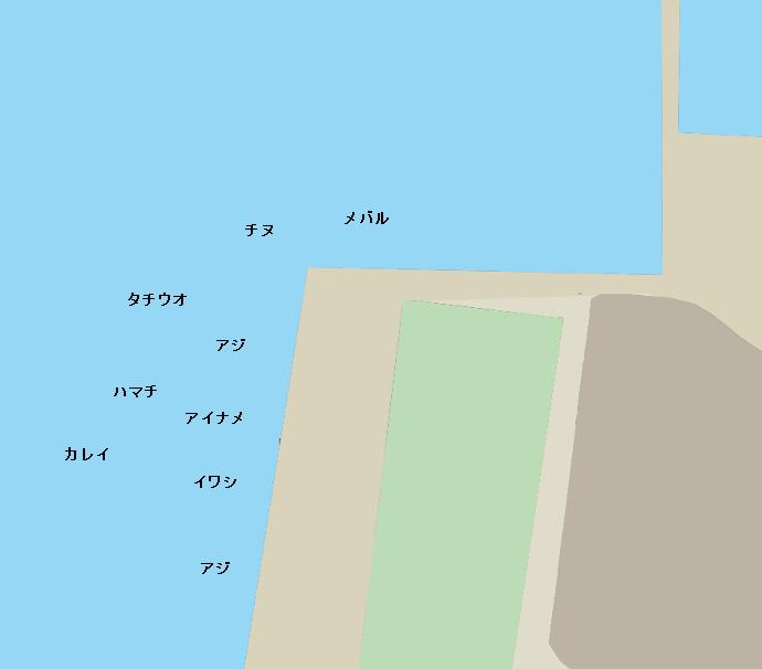 高浜観光港ポイント図