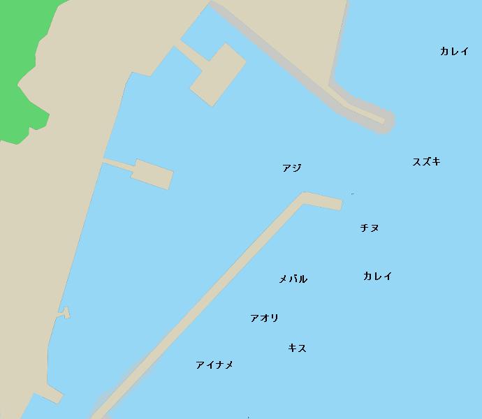 高見港ポイント図