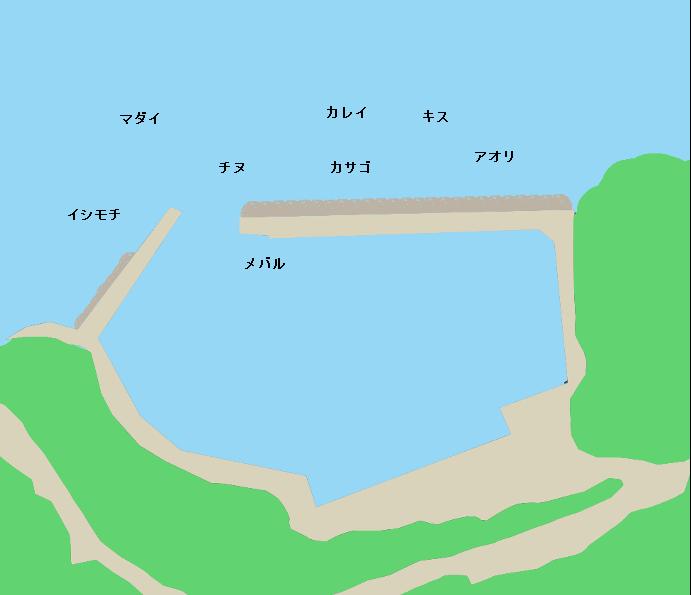 竹居漁港ポイント図